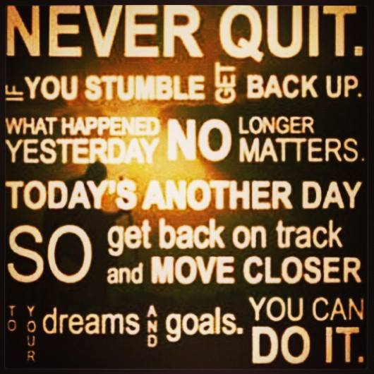 Keep @ it, never give up. With GOD, all things are made possible!