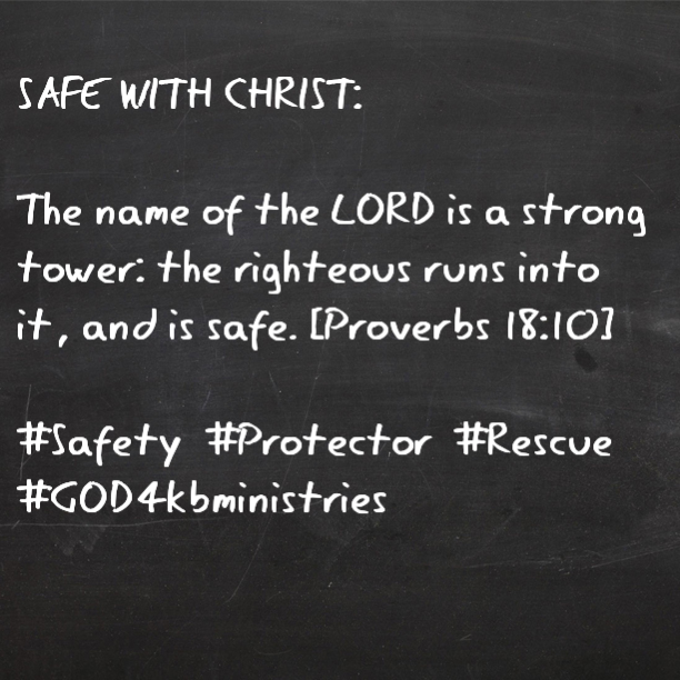 We are safe with Christ regarldless of what goes on around you...If he did it before, he will forever get you through!