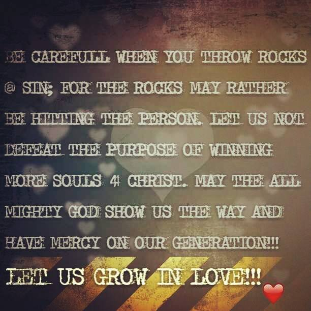 Win a soul 4 Christ, Don't lose a soul 2 da world! #Godlovesyou no matter who you are; therefore, you must learn to live in love no matter how terrible or great the person is. Allow God to do the real transformation. You are just a messenger of Christ!