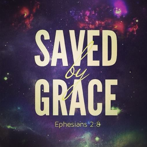 Saved by Grace, we have been redeemed. Forward ever, backwards never. In the name of Christ, our saviour.
