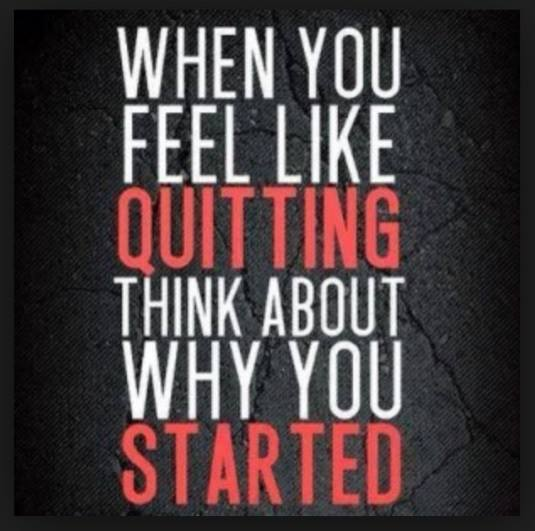 DON'T START TO QUIT!!!