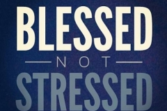 Don't allow Stress in your life if you truly understand how blessed you are. Let us know our worth in the LORD and not be deceived, Amen!!!