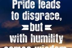 Pride vs. Humility