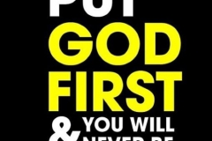 Keep God in the master plan, and you will be fine!