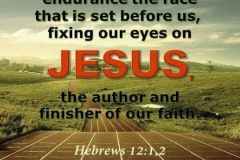 Keep your focus on Christ and keep running towards Him. His arms are still opened ready to receive you!!!