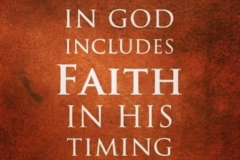 Trust GOD and wait on Him!