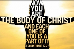 WE ARE THE BODY OF CHRIST!!!